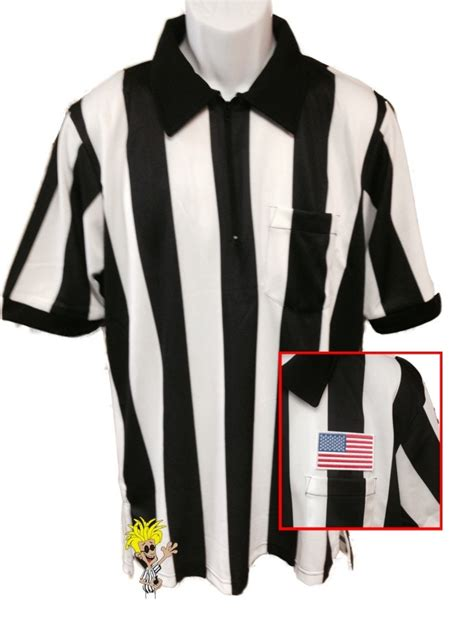 Smitty Short Sleeve 2 1/4  Striped Football Referee Shirt ...