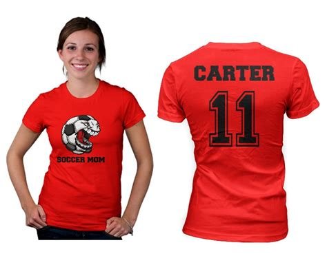 Soccer Mom Womens T Shirt Front and Back Design