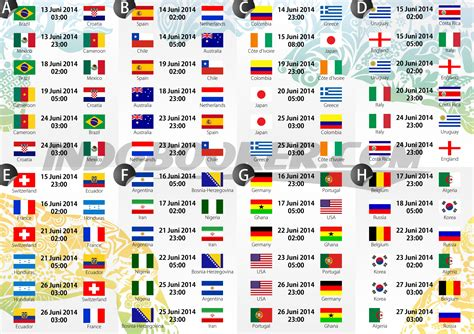 Soccer world cup schedule today