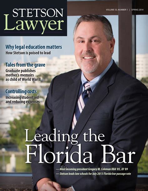 Spring 2014 Stetson Lawyer magazine by Stetson University ...