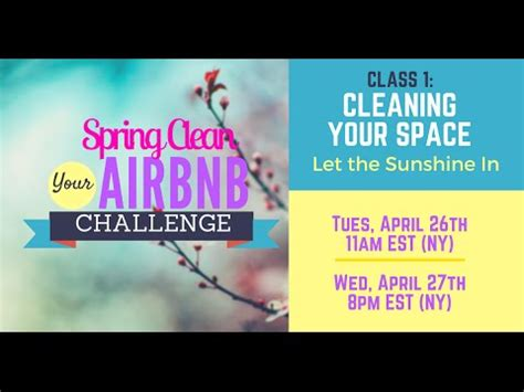 Spring Clean Your Airbnb Challenge: Your Space   YouTube