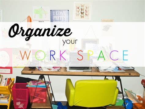 Spring Cleaning Challenge: An Organized Workspace   Happy ...