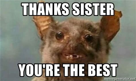 Thanks Sister you re the best   ugly rat   Meme Generator