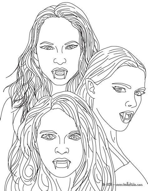 The 3 empusa mythical vampires coloring pages   Hellokids.com