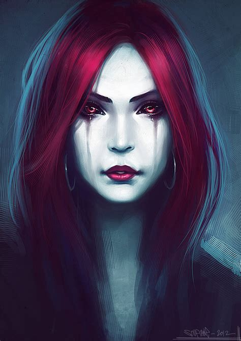 The gallery for   > Sexy Vampire Girl Art