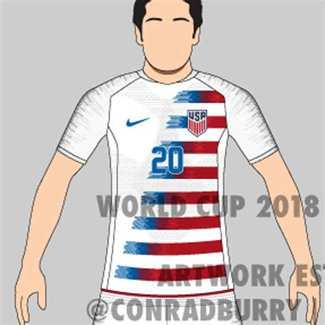 This image shows the design of the Nike United States 2018 ...