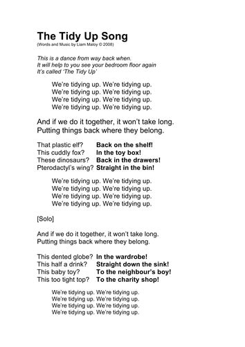 Tidy up    Great song to encourage children to tidy up by ...