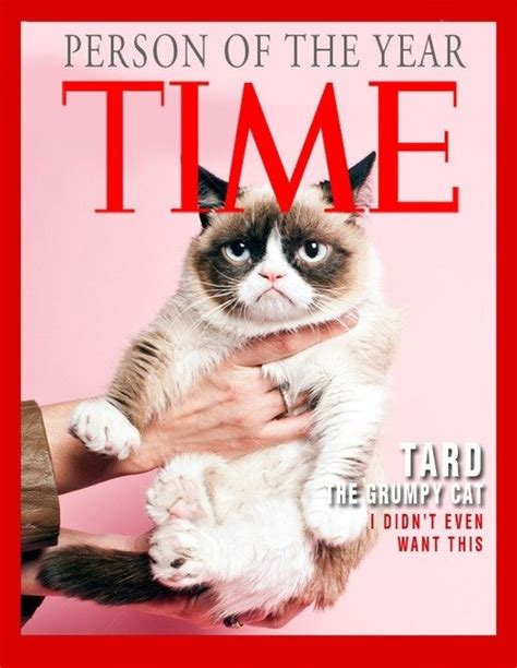 Time cover girl   Grumpy Cat | Cats...cats...cats | Pinterest