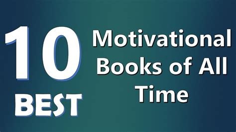 Top 10 Best Motivational Books of All Time   YouTube
