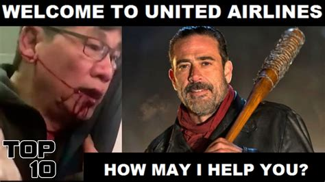 Top 10 United Airlines Funniest Memes   YouTube