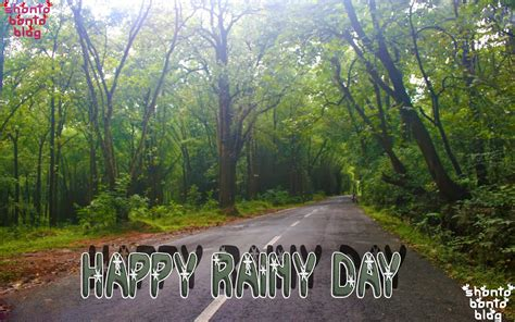 top wallpaper: Happy Rainy Day Wishes Wallpaper With ...
