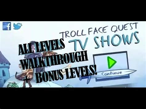 Troll Face Quest TV Shows All Levels Walkthrough ...
