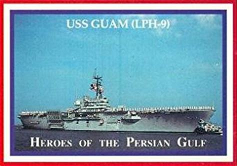 USS Guam LPH 9 trading card  Heroes of the Persian Gulf ...