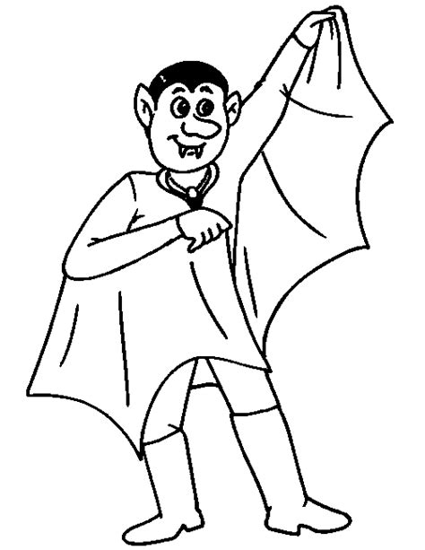 Vampire Coloring Pages For Kids   ColoringPagesABC.com