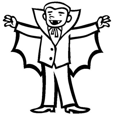 Vampire Costume halloween     Coloring pictures