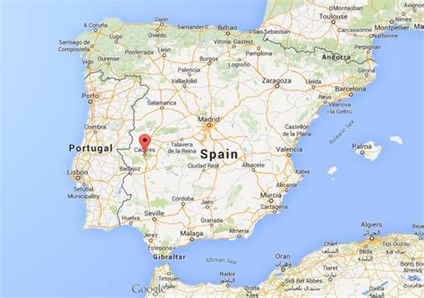Where is Caceres on map of Spain | World Easy Guides