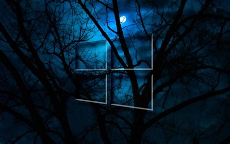 Windows 10 HD Moon Night   Fondos de pantalla gratis para ...