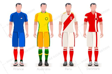 World Cup Group C Jerseys Kit   Image Illustration