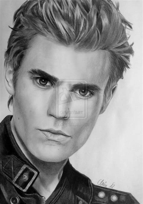 WOW! Incredible drawing of Paul Wesley aka Stefan ...